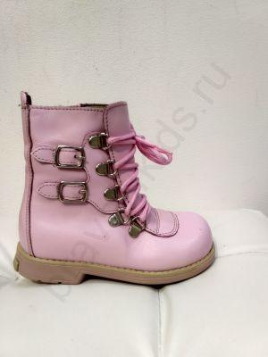 63 Ortopedia Ботинки Детские (21-25) демисезонные на флисе в розовом цвете