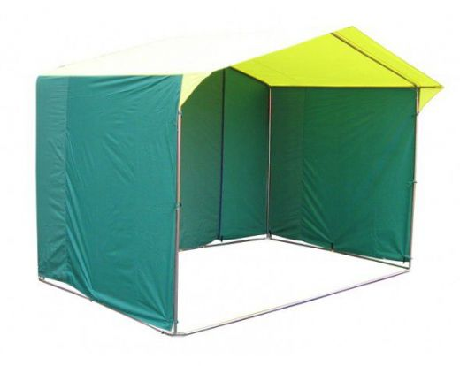 Палатка торговая 2,0 х 2,0, разборная «Домик», желто-зеленая