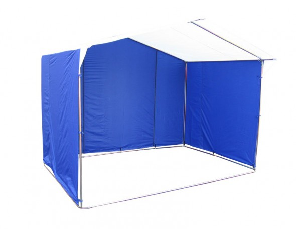 Палатка торговая 3х2, разборная «Домик», бело-синяя (Россия)