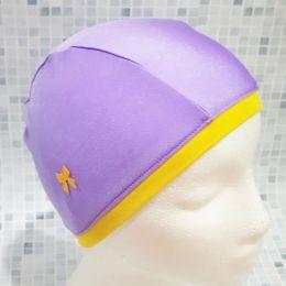 Сереновая с бантиком Текстильная шапочка для плавания