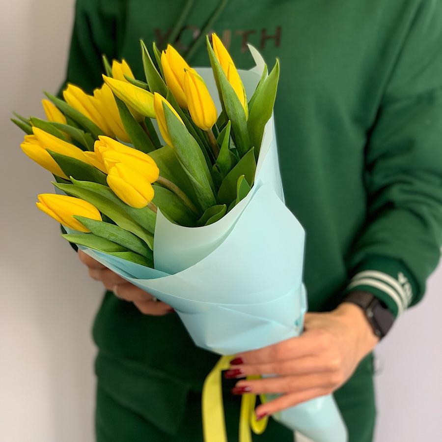 Тюльпаны 15 шт (желтый)