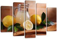 Модульная картина Лимоны и лимонад
