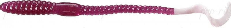 Червь MISTER TWISTER Phenom Worm 15 см уп. 10 шт. 41 (фиолетовый / белый хвост) фирменная упаковка