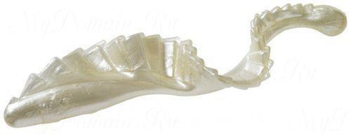Твистер с гребешком MISTER TWISTER G-Grub 10 см уп. 20 шт. 1P (белый жемчуг)