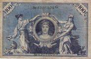Германия 100 марок 1908 год