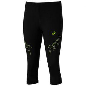 Женские леггинсы 3/4 Asics Stripe Knee Tight чёрные
