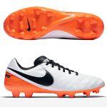 Бутсы Nike Tiempo Mystic V FG белые