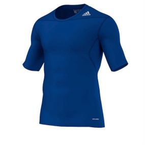 Футболка adidas Techfit Base Short Sleeve Tee синяя