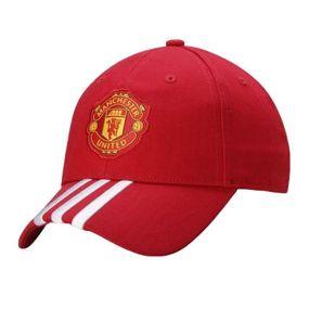 Бейсболка adidas Manchester United Football Club 3 Stripes Cap красная