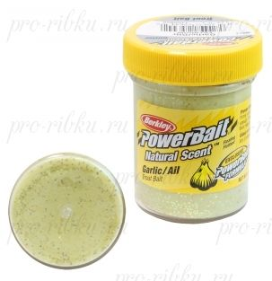ФОРЕЛЕВАЯ ПАСТА BERKLEY POWERBAIT TROUTBAIT GARLIC/AIL, цв. Sunshine Yellow (чеснок)