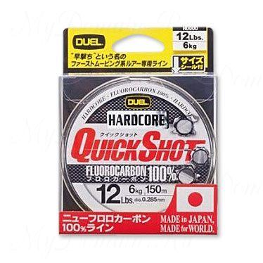 Леска Duel Hardcore Quick Shot Fluorocarbon100% 150m 20Lbs/9.0Kg (0.370mm)