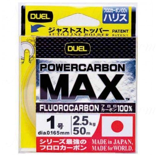 Леска Duel POWERCARBON MAX FLUOROCARBON100% 50m #1.25 3.0Kg (0.190mm)