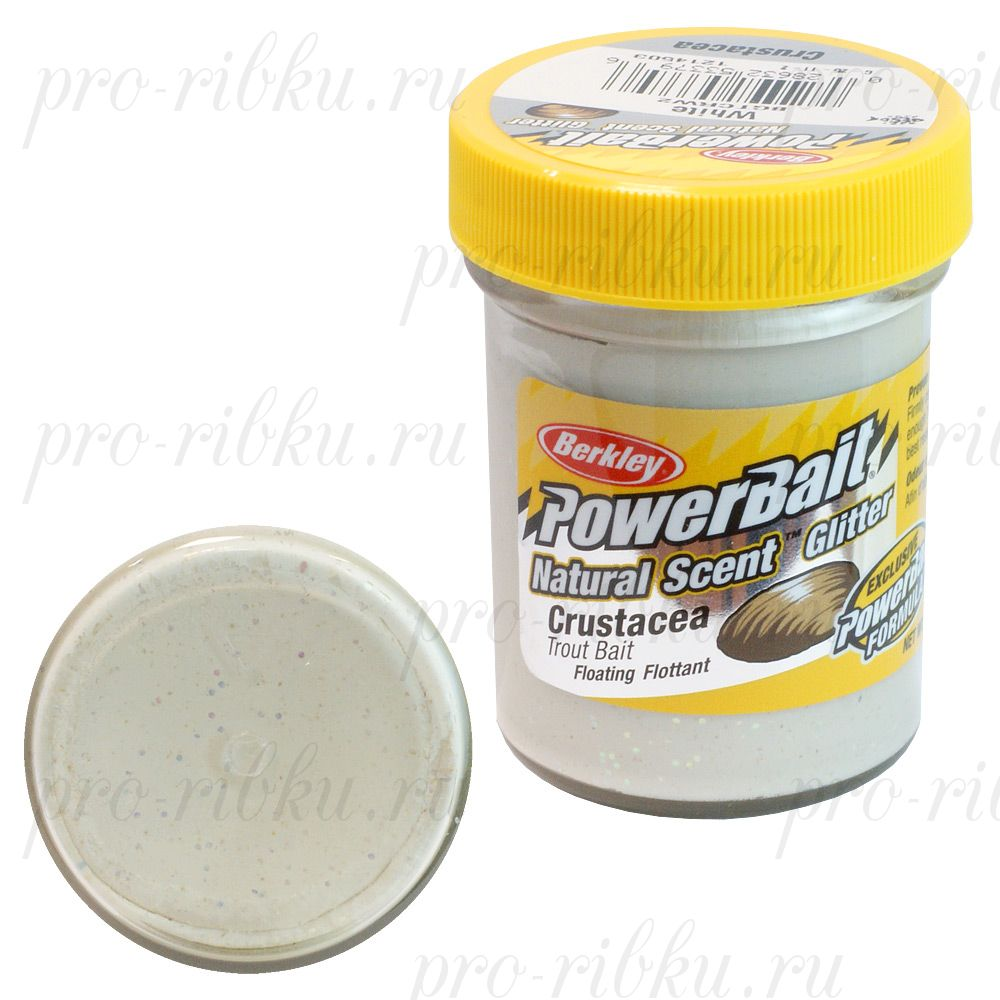 ФОРЕЛЕВАЯ ПАСТА BERKLEY POWERBAIT TROUTBAIT CRUSTACEA, цв. White (краб)
