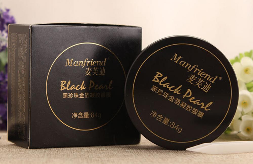Патчи для глаз с черным жемчугом и золотом Manfriend Black Pearl Eye Patch 60шт