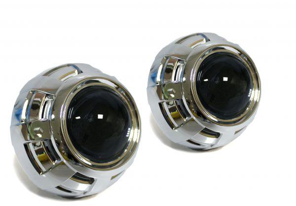 "Комплект биксеноновых линз Carprofi Stels Q5, D2S, ""Type A"", 3.0"" (Koito Lens, Маска без АГ)"