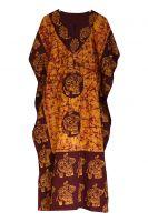 Длинное безразмерное индийское платье на кулиске, купить в Москве