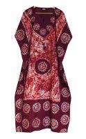Длинное индийское платье на кулиске. Свободный размер. Купить в Москве