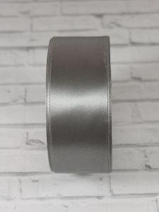 `Лента атласная, ширина 40 мм, цвет серый