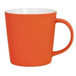 оранжевые кружки с прорезиненным покрытием