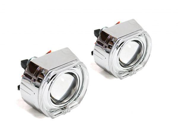 """Комплект биксеноновых линз Carprofi CANNON H1, 3.0"""", """"Ангельские глазки"""" CREE (Morimoto Lens)"""
