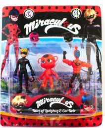 Набор из 3-х кукол героев Miraculous Кукла Нино Ляиф, Тикки, Адриан в образе Кота  (Леди Баг и Супер Кот)