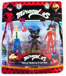 Набор из Кукол Miraculous Леди Баг, Плагг— квами-чёрный кот, Андриан (Леди Баг и Супер Кот)