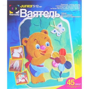 """Набор для создания объемных барельефов """"Мишка с цветком и бабочкой"""" Ваятель"""