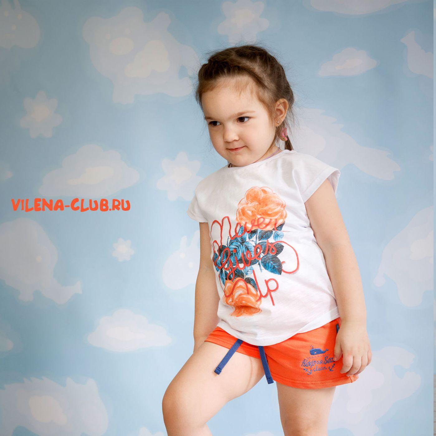 Комплект для девочки (футболка+ шорты)
