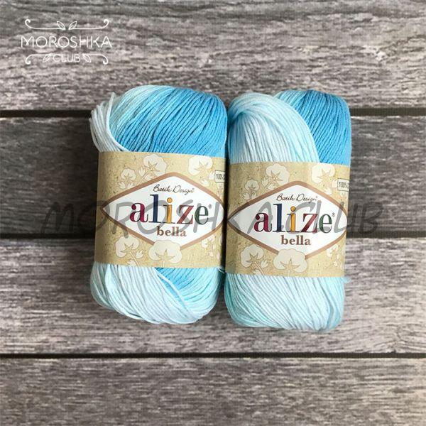 Бело-голубой Bella Batik, цвет 2130