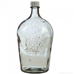 Бутыль стеклянная Виноград 2 л.