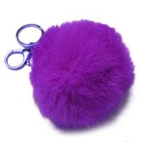 Брелок-шарик из натурального меха фиолетовый