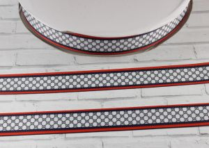 Лента репсовая с рисунком, ширина 25 мм, длина 10 м, Арт. ЛР5438