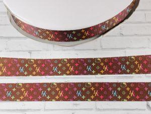 Лента репсовая с рисунком, ширина 25 мм, длина 10 м, Арт. ЛР5440