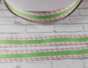Лента репсовая с рисунком, ширина 25 мм, длина 10 м, Арт. ЛР5459