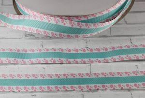 Лента репсовая с рисунком, ширина 25 мм, длина 10 м, Арт. ЛР5460