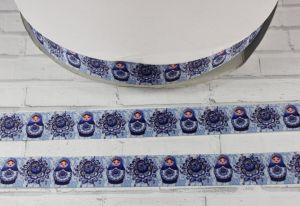 `Лента репсовая с рисунком, ширина 22 мм, Арт. Р-ЛР5419