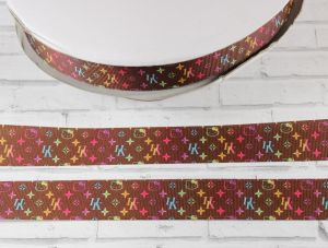 `Лента репсовая с рисунком, ширина 25 мм, Арт. Р-ЛР5440