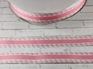 `Лента репсовая с рисунком, ширина 25 мм, Арт. Р-ЛР5461
