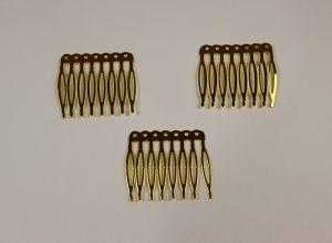 `Гребень для волос, металл, размер 55*41, цвет: золото