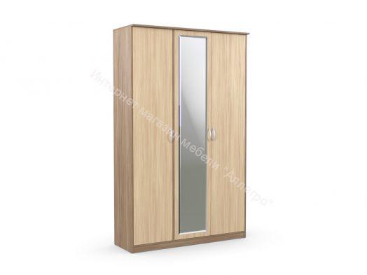 Шкаф 3-х створчатый с зеркалом Дуэт Люкс