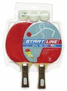 Набор для настольного тенниса Start Laine 2 Ракетки Level 100, 3 Мяча Club Select 61-200