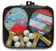 Набор для настольного тенниса Start Laine 4 Ракетки Level 100, 6 Мячей Club Select 61-452