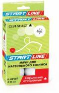 Мячи для настольного тенниса Start Line Club Select 1, 6 мячей 23-121