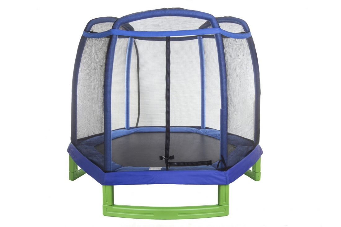 Батут с внешней защитной сеткой - Hasttings Crox 7 ft (2,44м), цвет синий