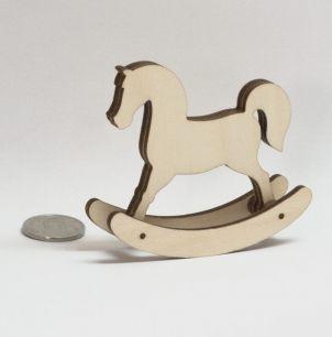 Аксессуар для куклы- лошадка качалка