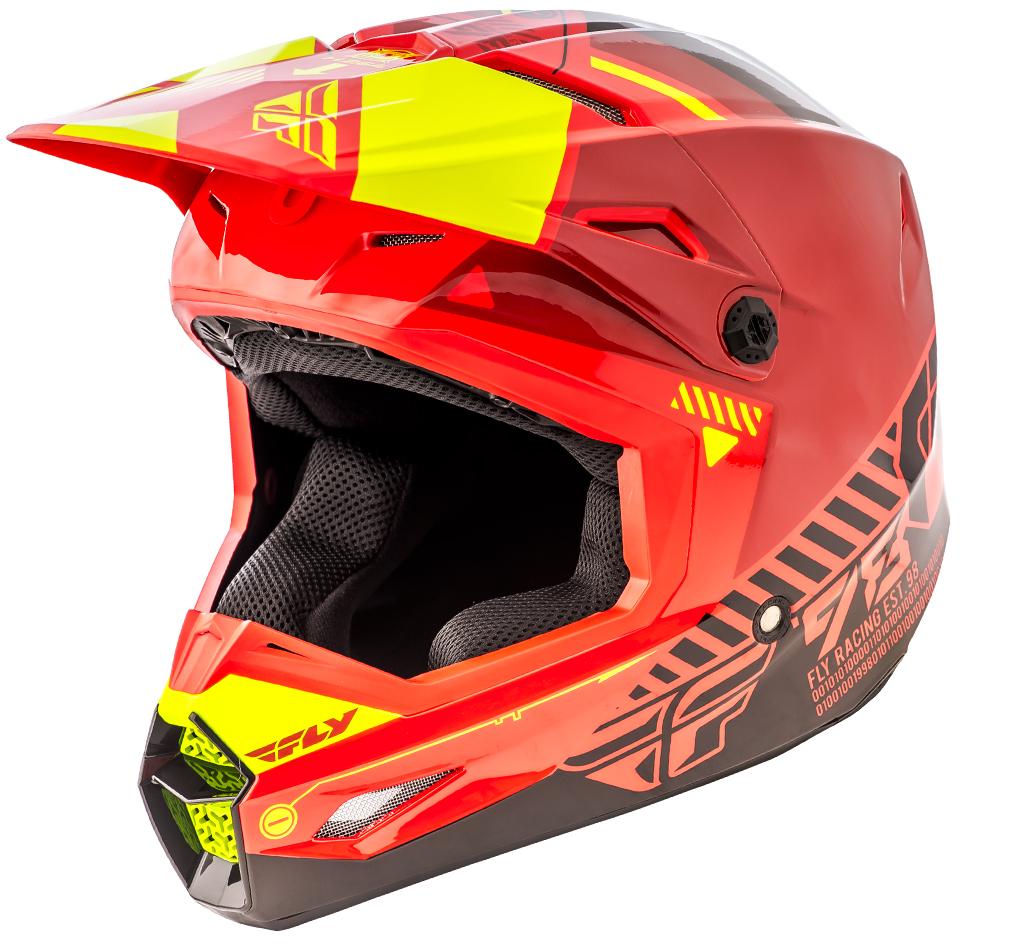 Fly - Kinetic Elite Onset Red/Black/Yellow шлем шлем, красно-черно-желтый