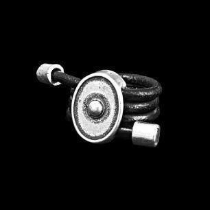 """""""Скифская Этника"""" Кольцо Ружа (17 размер, кожа) арт. 1200285411-7"""