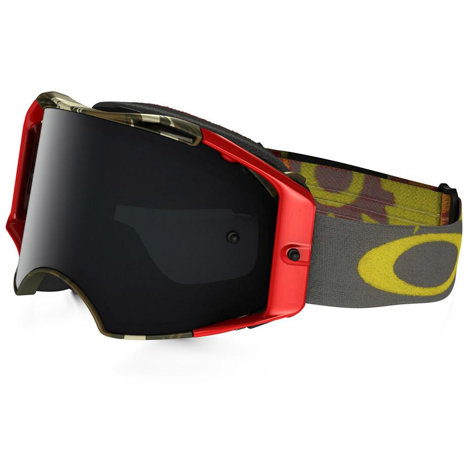 Oakley - Airbrake Scorpions очки красно-зеленые, линза темно-серая