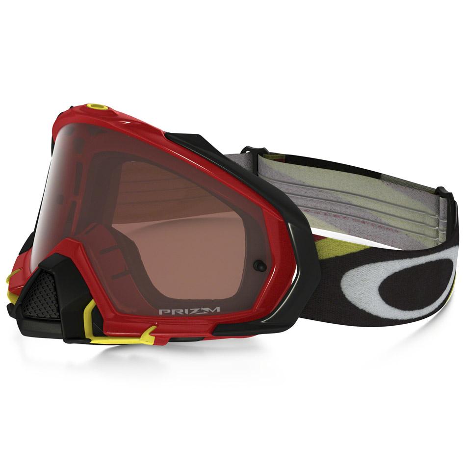 Oakley - Mayhem Pro Heritage очки красно-желтые, линза бронзовая Prizm MX