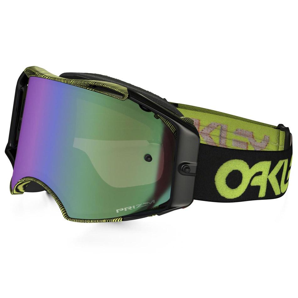 Oakley - Airbrake Thumbprint очки черно-желтые, линза зеленая Prizm MX